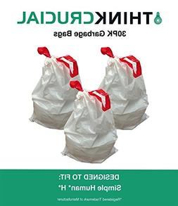 30 PK Durable Garbage Bags Fit Simple Human H - 30-35L / 8-9