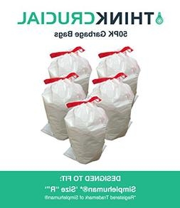 Think Crucial 50PK Durable Garbage Bags Fit Simplehuman Size