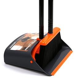 TreeLen Dust Pan and Broom/Dustpan Cleans Broom Combo with 4