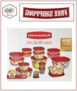 Rubbermaid 50 pc piece Easy Find Food Plastic Storage Contai