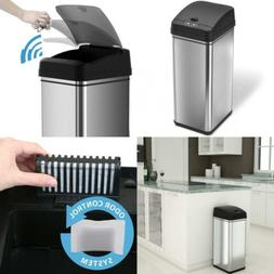 Electric Trash Garbage Can Lid Touchless Stainless Steel Odo