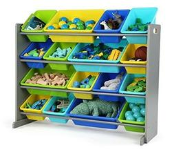 Elements Collection Wood Toy Storage Organizer, X-Large, Gre