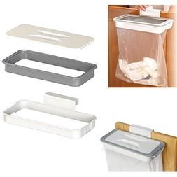 EP_ Kitchen Cabinet Door Basket Hanging Trash Can Waste Bin