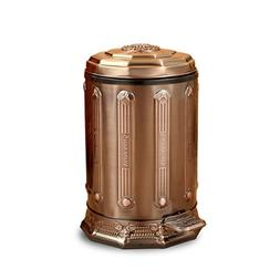 DDSS European-style Home Pedal Garbage Can Luxury Retro Stai