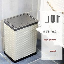YQ WHJB European leather trash can home outdoor or commercia