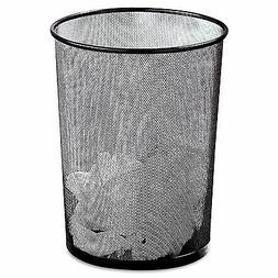 expressions mesh black metal wastebasket office desk