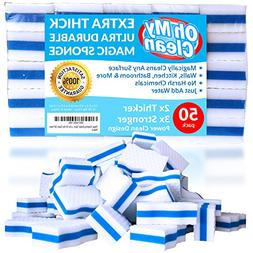 Extra Durable Magic Cleaning Eraser Sponge - 2x Thick, 3x S