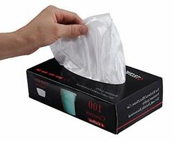 Feiupe 4 Gallon Extra Strong Clear Small Trash Bag Garbage B