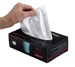 Feiupe 2.6 Gallon Extra Strong Clear Small Trash Bag Garbage
