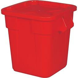 Rubbermaid Commercial FG351700RED Brute Rectangular Trash Ca