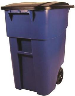 Rubbermaid-FG9W2773BLUE BRUTE Roll Out Container w/Lid