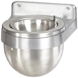 Rubbermaid Commercial FGU650SA Aluminum Round Wall Mount Smo