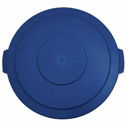 Flat Garbage Can Lid for 20 Gal Trach Can Blue Plastic - 19