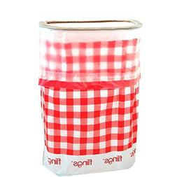 Amscan Flings Bin Gingham Patented 13 Gallon Pop Up Trash Bi