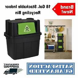 Rubbermaid 18-Gallon Flip-Door Stackable Recycle Bin