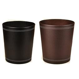 Pack of 2 Figella floor stand leather waste bin recycle tras