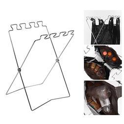 Braceus Foldable Stainless Steel Outdoor Home Garbage Bag Ha