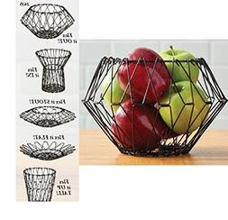 Trenton Gifts Folding Counter Wire Fruit Basket | Bread Bask