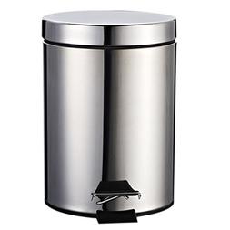Step Trash Can, WOLFBUSH 7 Liter Stainless Steel Foot Pedal