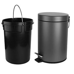 H+LUX Garbage Can, Small Round Step Trash Can with Soft Clos