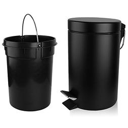 H+LUX Trash Can, Small Round Step Garbage Can with Soft Clos