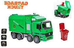 Friction Powered Garbage Truck Sanitation Plastic Truck Toy