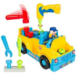 Fully Equipped Tool Toy Truck for Kids with Functioning Elec
