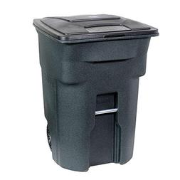 Toter 96 Gal. Green Trash Can with Wheels and Attached Lid