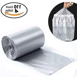 Small Garbage Bags 4 Gallon Clear Kitchen Trash Bags, 110 Co