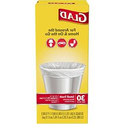 Glad 4 Gal. Small Garbage Bags 30 ct, 2 Pack
