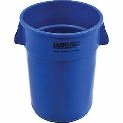 Global Industrial 44 Gallon Garbage Can, Blue