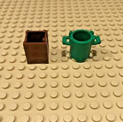 Lego Garbage Can Container Box City Street Utensil Minifigur
