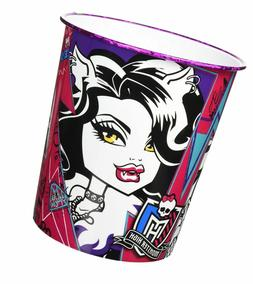 Monster High Garbage Can For Kids Girls Room Trash Bin Fashi