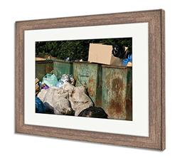 Ashley Framed Prints Garbage, Wall Art Home Decoration, Colo