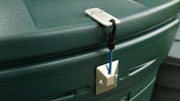 Garbage LOC Keeps Animals Out! - For Hinged Trash Can- Lock