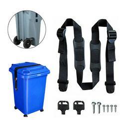 Garbage Security Bin Strap Garbage Lock Trash Lid Can Cover