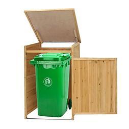 Kinbor Outdoor Garbage Storage Shed Trash Can Enclosure Hide
