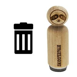 Garbage Trash Can Rubber Stamp for Stamping Crafting Planner