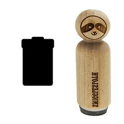 Garbage Trash Can Solid Rubber Stamp for Stamping Crafting P