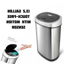 Garbage Trash Can Touchless Motion Sensor Automatic Stainles
