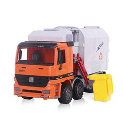 Garbage Truck, Sanitation Plastic Truck Toy Model with Trash