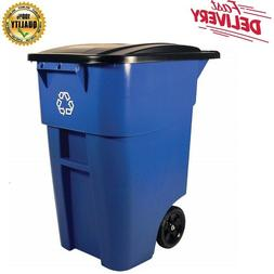 Outdoor Recycling Bin Garbage Waste Container Recycler Roll
