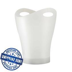 Umbra Garbino Polypropylene Waste Can Translucent White Dura