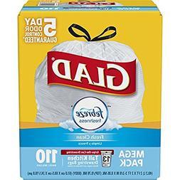 Glad OdorShield Tall Kitchen Drawstring Trash Bags - Febreze