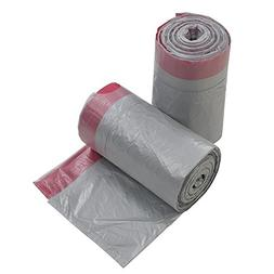Qsbon 3 Gallon Grey Drawstring Trash Bag, 125 Counts