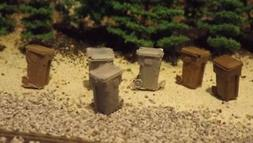 H-O-Scale 12 Unfinished Garbage Cans  Model Train Detail Acc