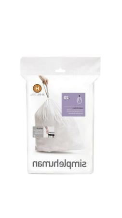 H Simplehuman Plastic Trash Can Liner 30-40 Liters Gallon 20