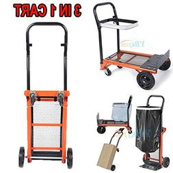 Hand Truck Dolly Folding Push Pull Cart Heavy Duty Utility M