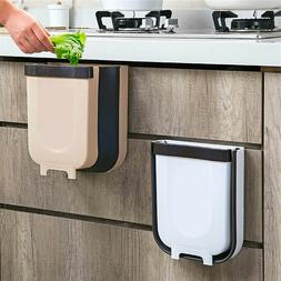Hanging Trash Can for Kitchen Cabinet Door, Slim & Compact C