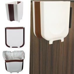 Hanging Trash can for Kitchen Cabinet, Folding Waste Bin, Co
